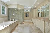 Büyük cam duş ebeveyn banyosu — Stok fotoğraf