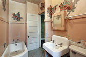 Bathroom in old abandoned home — Stock Photo