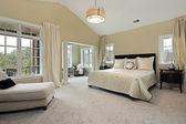 Oturma odası ile yatak odası — Stok fotoğraf
