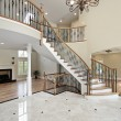 Stock Photo: Foyer and circular staircase