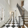 Stock Photo: Foyer with checkerboard floor