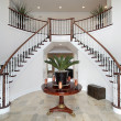 Modern foyer with double staircase — Zdjęcie stockowe #8682291