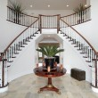 Stock Photo: Modern foyer with double staircase