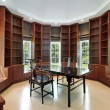 Library in new construction home — Stock Photo