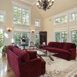 Living room with two story windows — Stock Photo #8682457