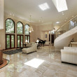 Great room with marble floors — 图库照片