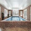 Stock Photo: Swimming pool in luxury home