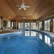Stock Photo: Large indoor swimming pool