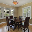 Постер, плакат: Dining room with french door