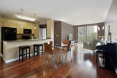 Condo with open floor plan — Stock Photo