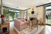 Living room in luxury home — Stock Photo