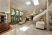 Great room with marble floors — Stock Photo