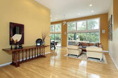 Foyer looking into living room — Stock Photo