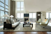 Living room in condo — Stock Photo