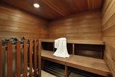 Sauna in luxe binnenlandse — Stockfoto