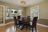 Dining room with french door — Stock Photo