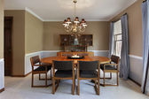 Sala de jantar com paredes bege — Foto Stock