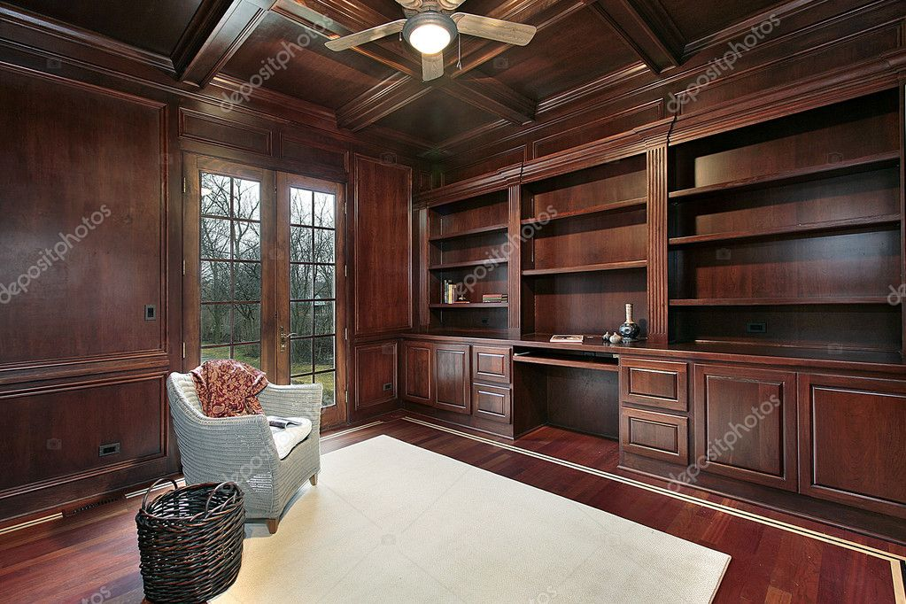 Sensational Cherry Wood Paneling Library Stock Photo C Lmphot 8682360 Largest Home Design Picture Inspirations Pitcheantrous