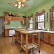 Kitchen with green walls — Photo #8694742