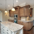 Kitchen with granite island — Stock Photo #8694797