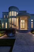 Luxury home with column entry — Stock Photo