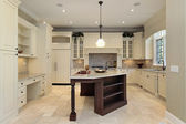 Kitchen with light cabinetry — Stock Photo