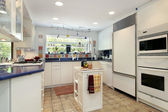 Kitchen with blue countertops — Foto de Stock