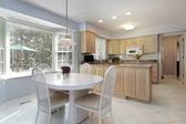 Kitchen with eating area — Stok fotoğraf
