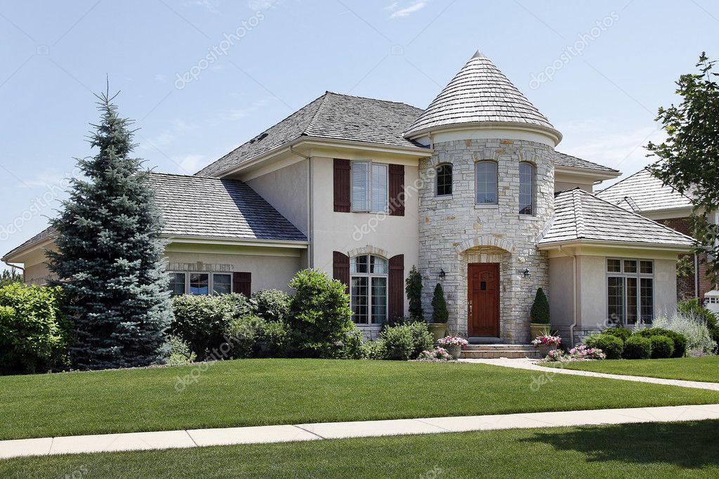 Maison avec tourelle pierre de luxe photographie lmphot for Case con torrette