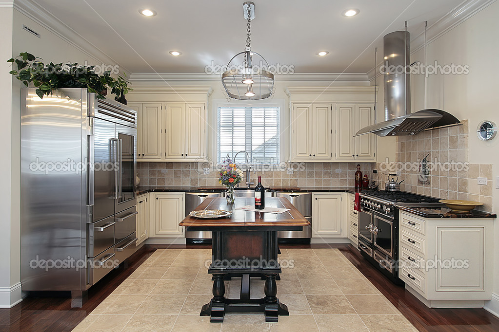 Kitchen With Cream Colored Cabinet Stock Photo 169 Lmphot
