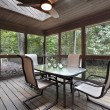 Stock Photo: Wooden porch with skylights
