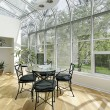 Sun room with ceiling windows — Stock Photo