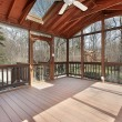 Porch in suburban home - Stock Photo