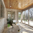 Porch in new construction home - Stock Photo