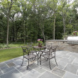 Bluestone patio and stone grill — Foto Stock