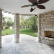 Stone covered patio — Stock Photo #8701351