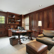 Office in luxury home — Stock Photo