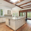 Kitchen with ceiling wood beams — Stock Photo #8701398