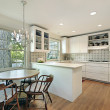 Kitchen with eating area — Stock Photo