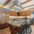 Kitchen in suburban home - Stock Photo