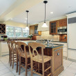 Stock Photo: Kitchen in suburbhome
