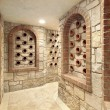 Wine cellar in luxury home - Stock Photo