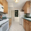Stock Photo: Kitchen with green counters