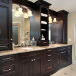 Master bath vanity — Stock Photo