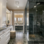Master bath in luxury home — Stock Photo #8702565