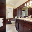 Master bath in luxury home — Stock Photo