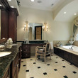 Master bath in luxury home - Stockfoto