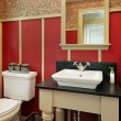 Powder room in luxury home - Stockfoto