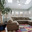 Sun room with wall of windows — Stock Photo