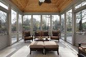 Varanda em casa luxo — Foto Stock